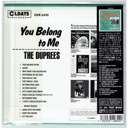 Photo2: THE DUPREES / YOU BELONG TO ME (Brand New Japan ,ini LP CD) * Available in 3-5 days *