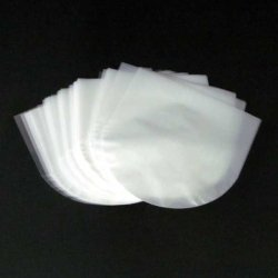 Photo1: PP ROUND BOTTOM INNER BAGS for CD DISC (100 pieces)