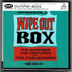 Photo1: THE SURFARIS, THE VENTURES & THE CHALLENGERS / WIPE OUT BOX (Brand New Japan mini LP CD BOX) * backorder *