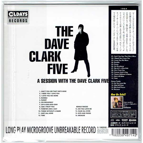 THE DAVE CLARK FIVE / A SESSION WITH THE DAVE CLARK FIVE (Brand New Japan  mini LP CD)