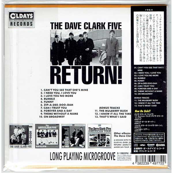 THE DAVE CLARK FIVE / THE DAVE CLARK FIVE RETURN! (Brand New Japan Mini LP  CD)